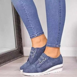 Shoespie Sexy Platform Round Toe Slip-On Plain Sneakers