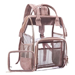 Shoespie Thread Plain PVC Backpacks