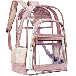 Shoespie PVC Thread Plain Backpacks