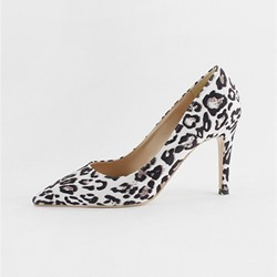 Shoespie Trendy Leopard Slip-On Pointed Toe Stiletto Heels