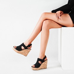 Shoespie Sexy Wedge Heel Buckle Open Toe Western Sandals