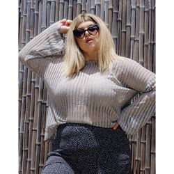 Plus Size Casual Round Neck Long Sleeve Women's T-Shirt