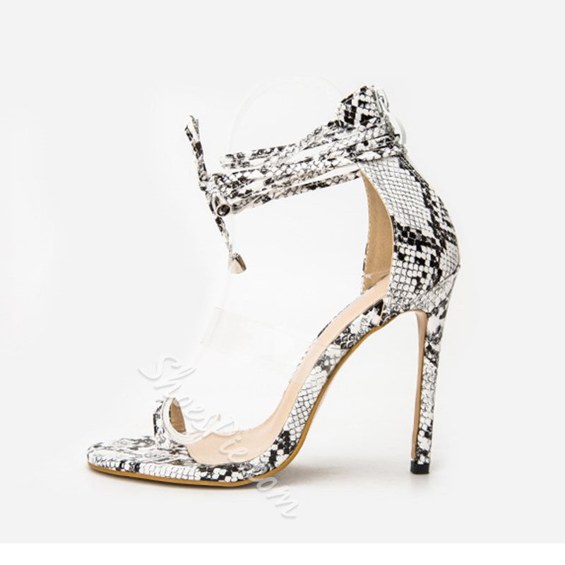 Shoespie Stylish Toe Ring Heel Covering Lace-Up Serpentine Sandals