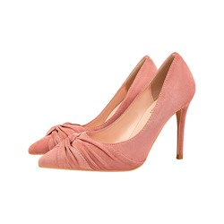 Shoespie Trendy Pointed Toe Stiletto Heel Bow Low-Cut Upper Thin Shoes