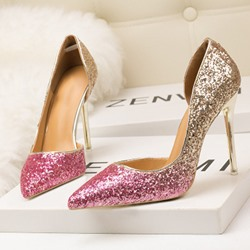 Shoespie Sexy Stiletto Heel Slip-On Pointed Toe Banquet Stiletto Heels