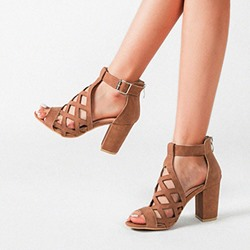 Shoespie Sexy Heel Covering Chunky Heel Peep Toe Plain Sandals