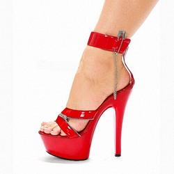Shoespie Trendy Zipper Stiletto Heel Open Toe Zipper Platform Sandals