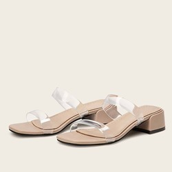 Shoespie Trendy Slip-On Block Heel Summer Mules Shoe