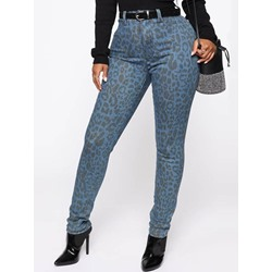 Stylish Leopard Skinny Print Women's Casual Pencil Pants