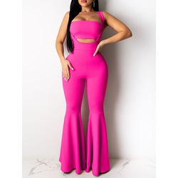 Sexy Strapless Vest Falbala Jumpsuit Women's Two Piece Sets