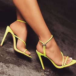 Shoespie Stylish Open Toe Ankle Strap Stiletto Heel Plain Sandals