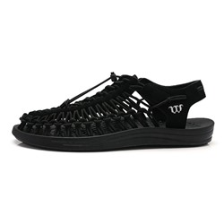 Shoespie Men's Low-Cut Upper Flat Heel Slip-On Thread Sandals