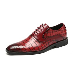 Shoespie Men's Flat With Low-Cut Upper PU Leather Oxfords