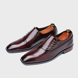 Shoespie Men's Flat With Low-Cut Upper Plain PU Leather Shoes