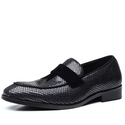 Shoespie Men's Slip-On Flat Heel Low-Cut Upper PU Oxfords