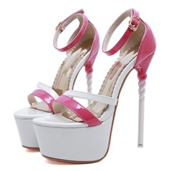 Shoespie Trendy Stiletto Heel Open Toe Heel Covering Platform Sandals