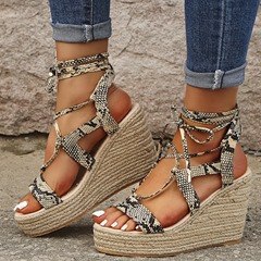 Shoespie Trendy Lace-Up Open Toe Casual Wedge Sandals