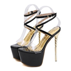 Shoespie Sexy Buckle Open Toe Stiletto Heel Platform Sandals