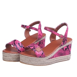Shoespie Trendy Wedge Heel Line-Style Buckle Open Toe Casual Sandals