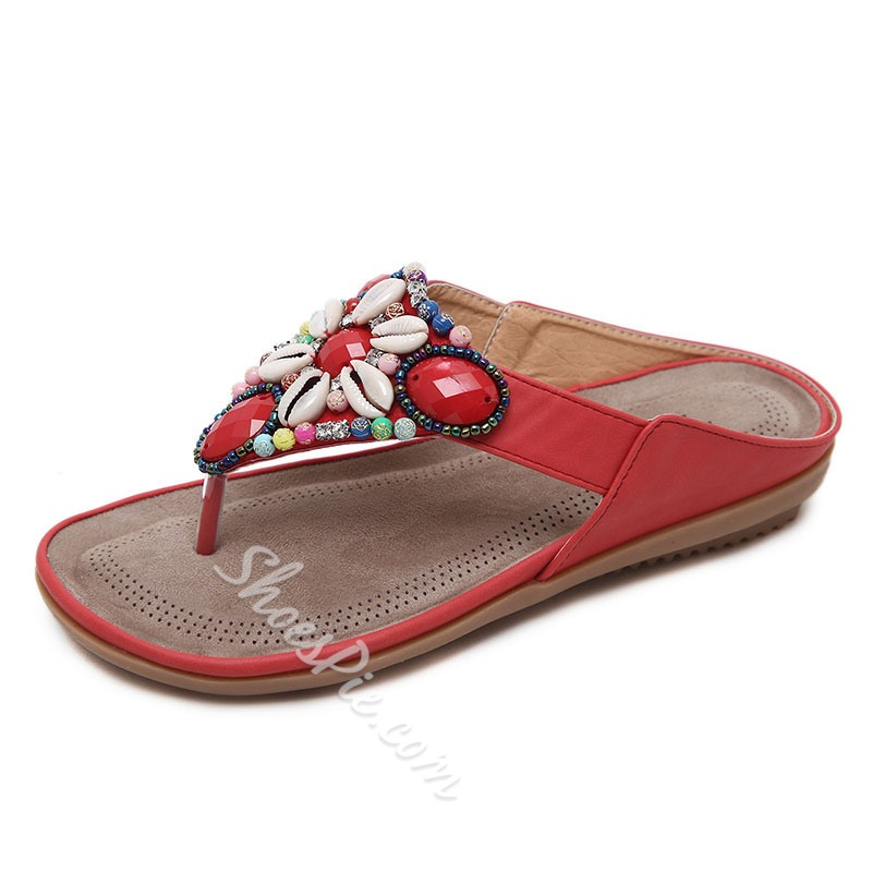 Shoespie PU Trendy Slip-On Summer Casual Flat Sandals