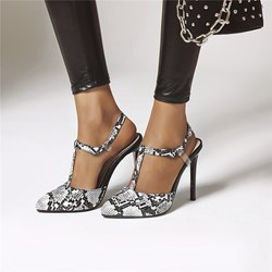 Shoespie Trendy Pointed Toe T-Shaped Buckle Stiletto Heel Casual Sandals