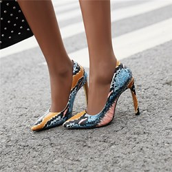 Shoespie Sexy Serpentine Pointed Toe Slip-On Stiletto Heels