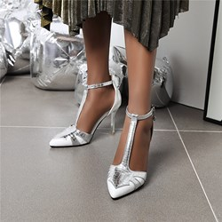 Shoespie Stylish T-Shaped Buckle Pointed Toe Heel Covering Casual Sandals