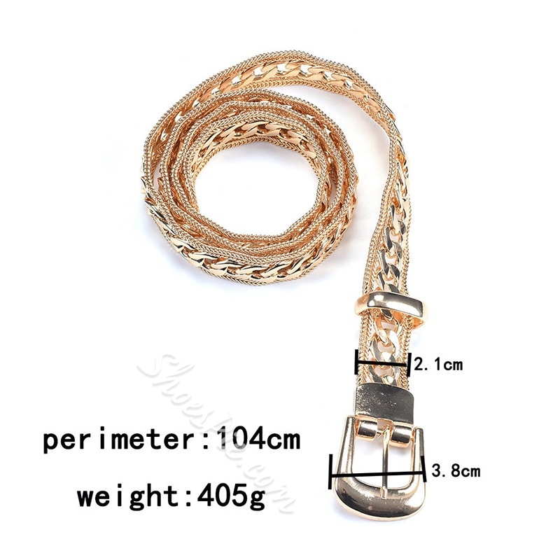 Pin Buckle Fashion Metal Belts