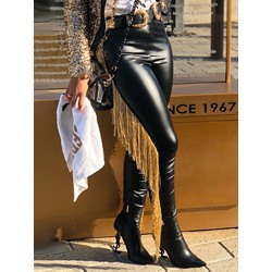 Stylish Tassel Skinny Full Length Women's Casual Pants