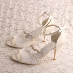Shoespie Stylish Open Toe Heel Covering Line-Style Buckle Wedding Sandals