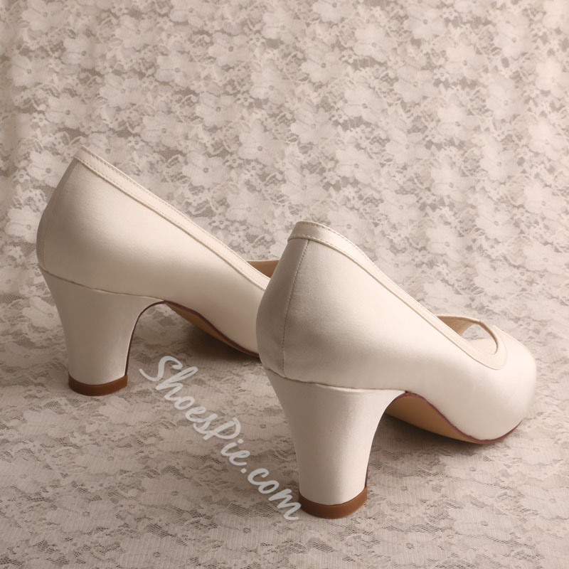 Shoespie Sexy Chunky Heel Slip-On Peep Toe Casual Thin Shoes