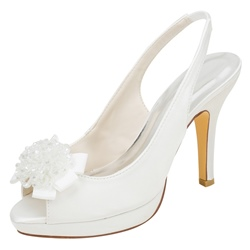 Shoespie Trendy Slip-On Peep Toe Stiletto Heel Wedding Platform Sandals