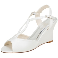 Shoespie Sexy Peep Toe Wedge Heel Slip-On Wedding Sandals