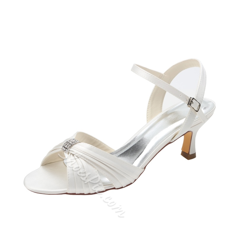 Shoespie Sexy Stiletto Heel Open Toe Buckle Plain Wedding Sandals
