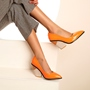 Shoespie Sexy Slip-On Chunky Heel Pointed Toe Plain Thin Shoes