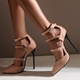 Shoespie Stylish Pointed Toe Stiletto Heel Line-Style Buckle Casual Sandals