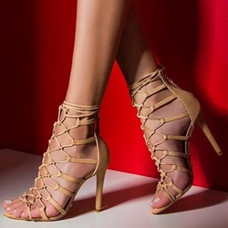 Shoespie Sexy Cross Strap Open Toe Zipper Hollow Sandals