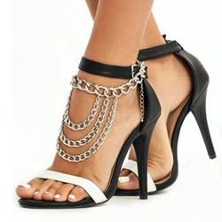 Shoespie Sexy Chain Open Toe Heel Covering Line-Style Buckle Sandals