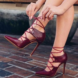 Shoespie Sexy Cross Strap Stiletto Heel Pointed Toe Hollow Sandals
