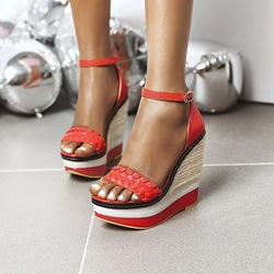 Shoespie Trendy Wedge Heel Heel Covering Open Toe Casual Sandals
