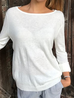 Casual Sexy Lace Hollow Long Sleeve Loose Women's T-Shirt