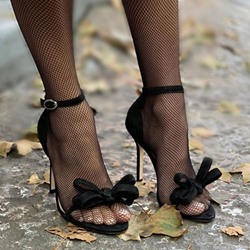 Shoespie Sexy Stiletto Heel Open Toe Line-Style Buckle Bow Sandals