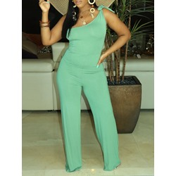 Full Length Asymmetric Western Straight Women's Jumpsuit