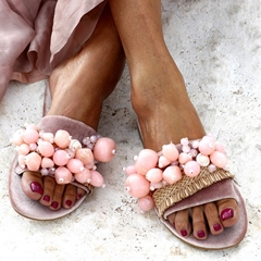 Shoespie Sexy Flat Heel Vacation Summer Slippers