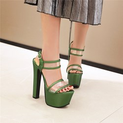 Shoespie Sexy Chunky Heel Open Toe Buckle Casual Sandals