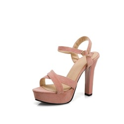 Shoespie Sexy Buckle Chunky Heel Open Toe Platform Sandals