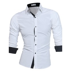 Formal Plain Fall Straight Shirt