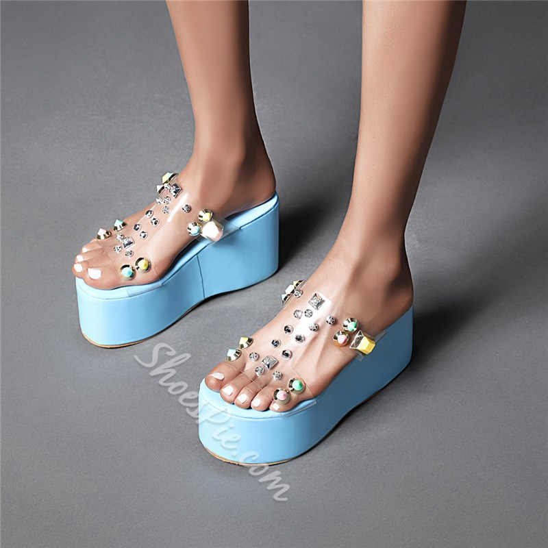 Shoespie Sexy Slip-On Platform Flip Flop Casual Slippers