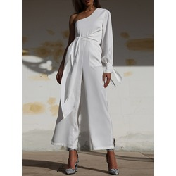 Asymmetric Ankle Length Casual Loose Women's Jumpsuit