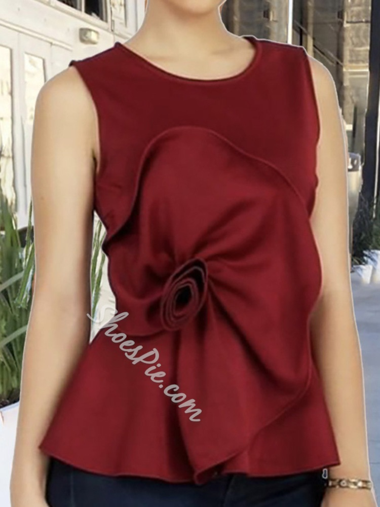 I-Shaped Polyester Standard Women's Tank Top